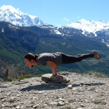 Mayurasana in the French Alps